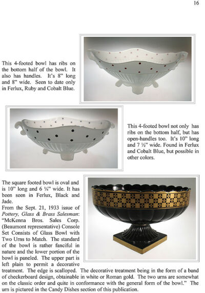 The Beaumont Company: Glassware of the 1920s & 1930s - Ferlux & decorated