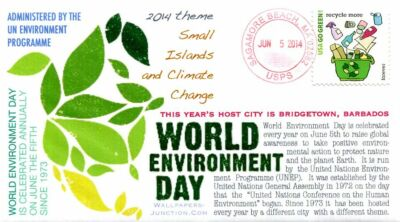 "COVERSCAPE computer designed ""World Environment Day"" event cover"