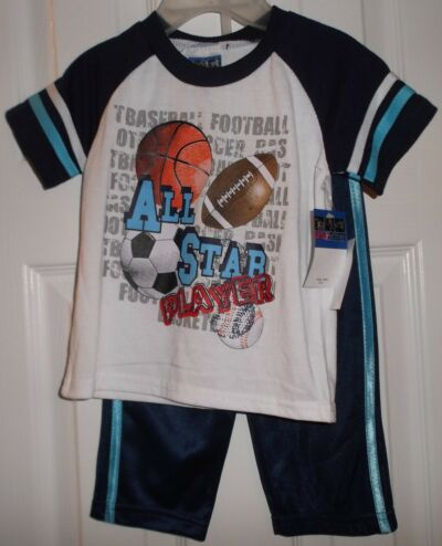 Infant US Athlete 2 pc Set Size 12 Mo. NWT All Star Players