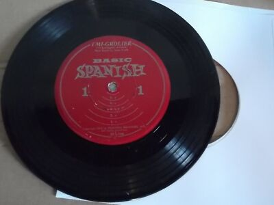 RARE TMI Grolier Basic Spanish 45 Record 33 1/3 RPM 1962