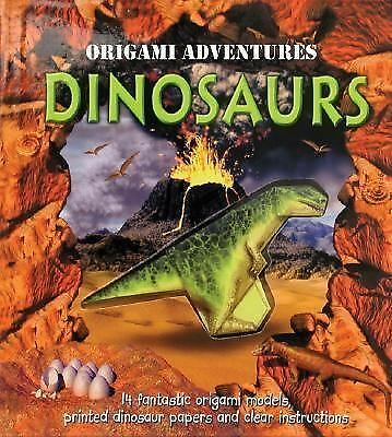 Very Good Condition! Origami Adventures: Dinosaurs (spiral-bound) Nick Robinson