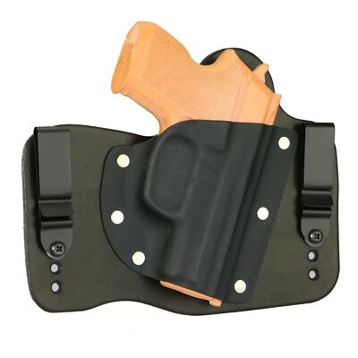 FoxX Leather & Kydex IWB Hybrid Holster Sig Sauer (Pick your Model) Black Right