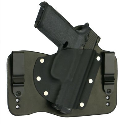 FoxX Leather & Kydex IWB Hybrid Holster FNH (Pick Your Gun) Black Right Conceal