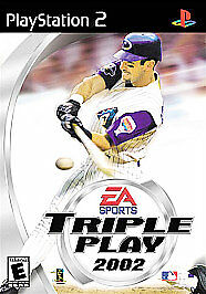 TRIPLE PLAY 2002 - Ps2 Playstation 2, TESTED & COMPLETE