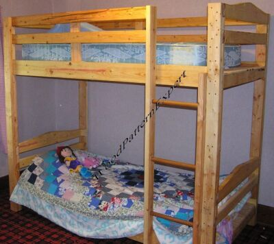 BUNK BED Paper Patterns BUILD KING QUEEN FULL TWIN ADULT SIZES Easy DIY Plans