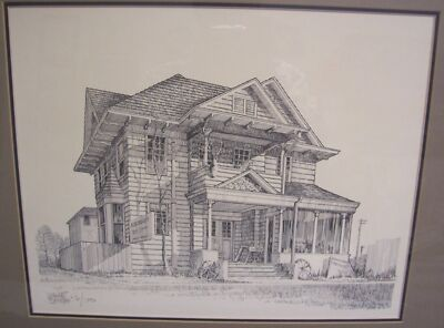 WAYNE SMITH Fine Art Pen And Ink Rendering Architectural Signed And Numbered