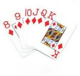 Standard Size Playing Cards Large Print For Low Vision
