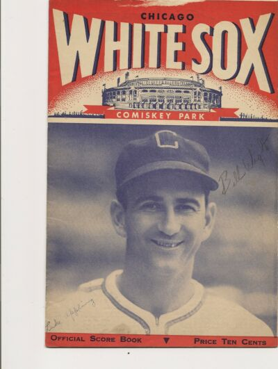 1946 Chicago White Sox-Yankees Program Yanks Edge Sox GEM!!
