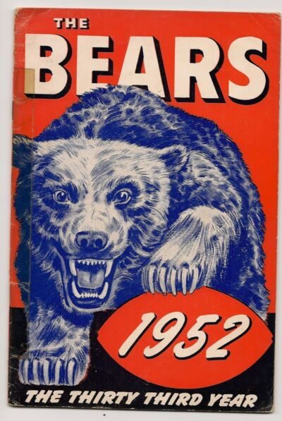 1952 Chicago Bears Yearbook Media Guide!!