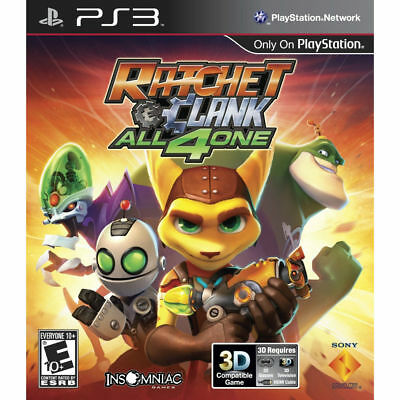 100% for CHARITY! BRAND NEW/SEALED RATCHET & CLANK ALL 4 ONE PLAYSTATION 3 PS3