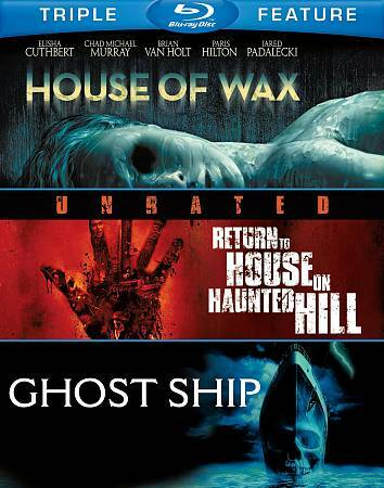 HOUSE OF WAX/RETURN TO HAUNTED HILL/GHOST SHIP BLU RAY NEW OPERATION GRATITUDE