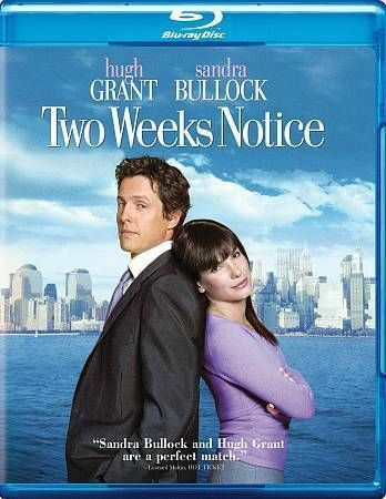 TWO WEEKS NOTICE BLU RAY  NEW SEALED OPERATION GRATITUDE