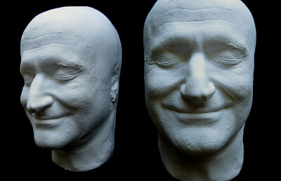 Robin Williams Smiling Life Mask Lifecast Percentage of Sale Donated to the AFSP