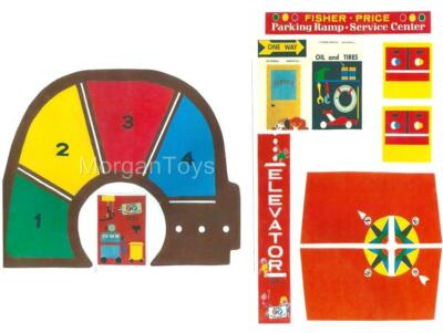 Vintage FISHER-PRICE Little People Play Family GARAGE #930 REPLACEMENT LITHOS