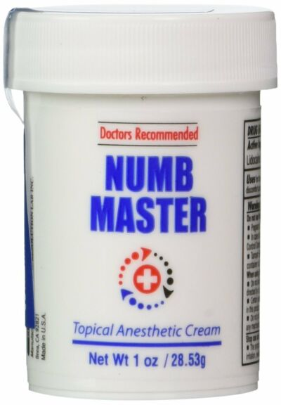 [1 oz] Numb Master 5% Lidocaine Net Wt 1 Oz 1 Jar, Made in USA