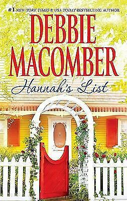Hannah's List by Debbie Macomber (2011, Paperback)