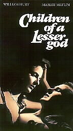 Children of a Lesser God (VHS)William Hurt, Marlee Matlin