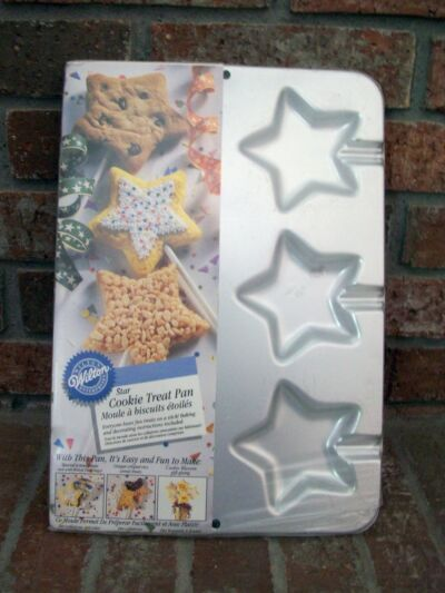 Wilton Cookie Treat Stick Candy Cake Mold Pan Tin Star Shape Birthday Graduation