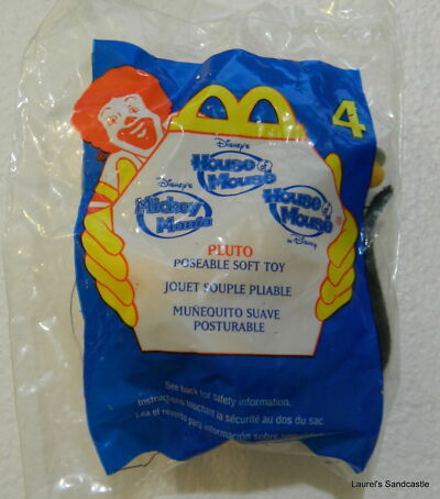 Pluto ~ #4  2001 McDonald's Disney's House of Mouse ~ Sealed!