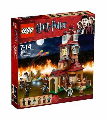 Lego Harry Potter The Burrow 4840 NISB Free Shipping RETIRED Rare Set Age 7-14