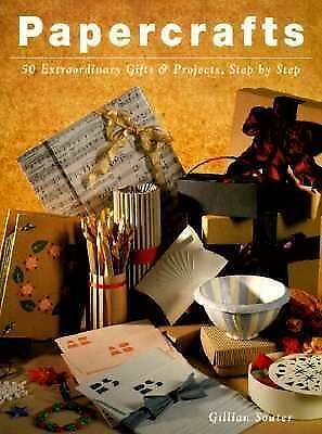 """PAPERCRAFTS"" SOFTBACK BOOK 50 EXTRAORDINARY GIFTS & PROJECTS STEP BY STEP"