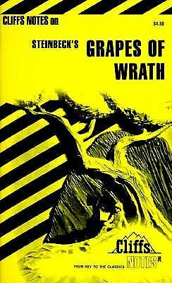 The Grapes of Wrath by Cliffs Notes Staff (1965, Paperback)