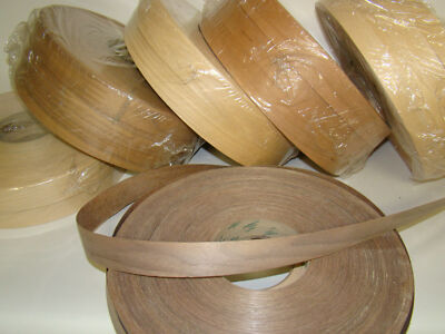 Wood Veneer Edge Banding Edge Band Tape, 600' roll, Oak, Maple, Cherry, Walnut
