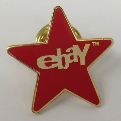 eBay Red Star Lapel Pin - Old Logo - Ships Free!