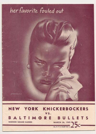 1948-49 New York Knicks-Bullets Playoff Program Knicks Oust Bullets NICE!!