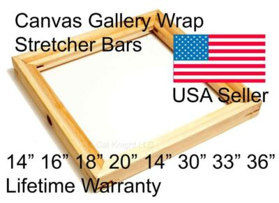 "Gallery Wrap Canvas Stretcher Bars 1-1/2"" deep 14"" 16"" 18"" 20"" 24"" 30"" 33"" 36"""