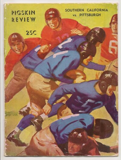 1935 USC Southern California- Pittsburgh Program Pitt Tops Trojans!!