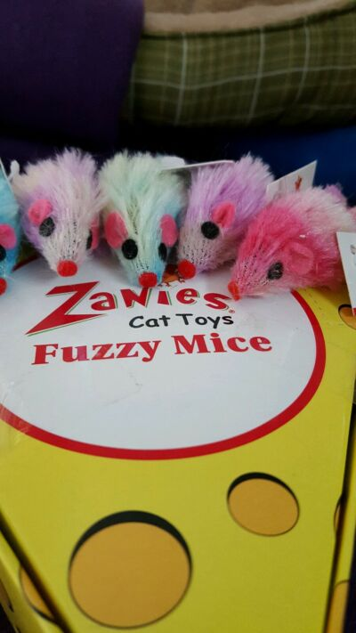 Zanies Fuzzy Mice Cat Toys. 4/$2.50.