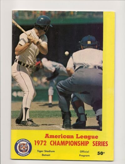 1972 ALCS Program Tigers-A's Athletics Top Tigers in 5 GEM!!