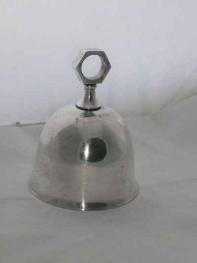 Silverplate Bell WA Italy Signed Vintage Near Mint Georgeous