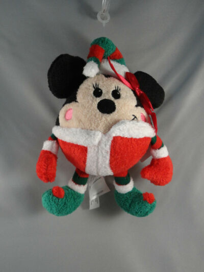 Disney Store Minnie Mouse Round Elf Plush Green Hat Shoes Red Mittens Pants NWT