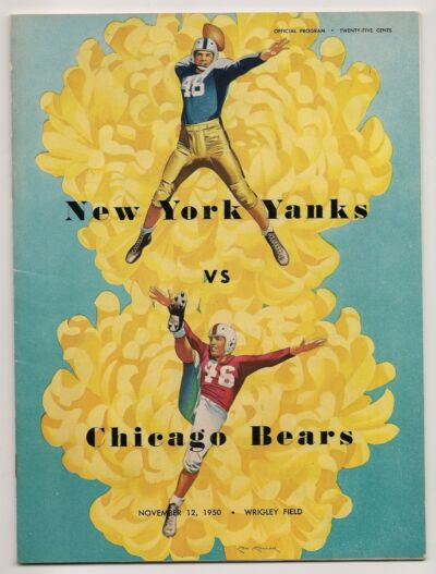 1950 Chicago Bears-New York Yanks Program Bears Nip Yanks NICE!!