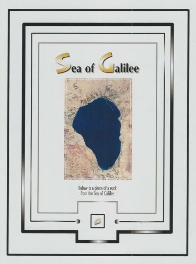 Tiny rock piece SEA OF GALILEE in the Holy Land, Israel, Jesus walked on water