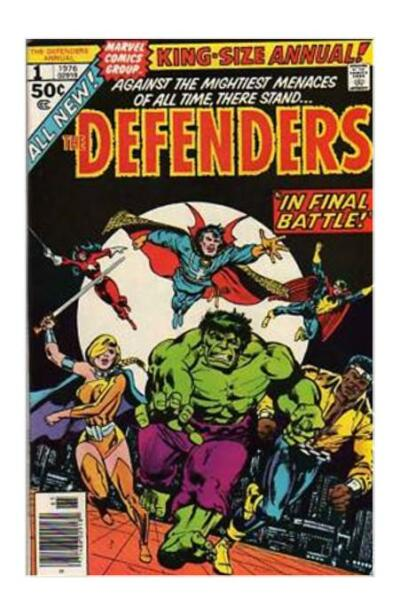 THE DEFENDERS KING SIZE ANNUAL #1 (NOV 1976) HULK POWER MAN NIGHTHAWK VALKYRIE