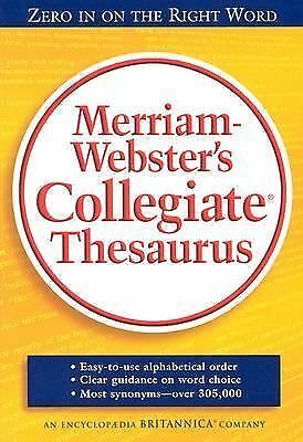 Merriam Webster's Collegiate Thesaurus by