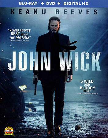 John Wick (Blu-ray/DVD, 2015, 2-Disc Set) Brand New Factory Sealed Keanu Reeves