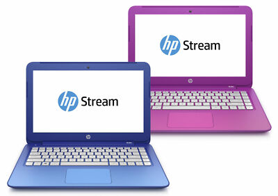 New HP Stream 11 13 Blue Pink Laptop, 2GB RAM 32GB SSD+$25 GiftCard+1Yr WARRANTY