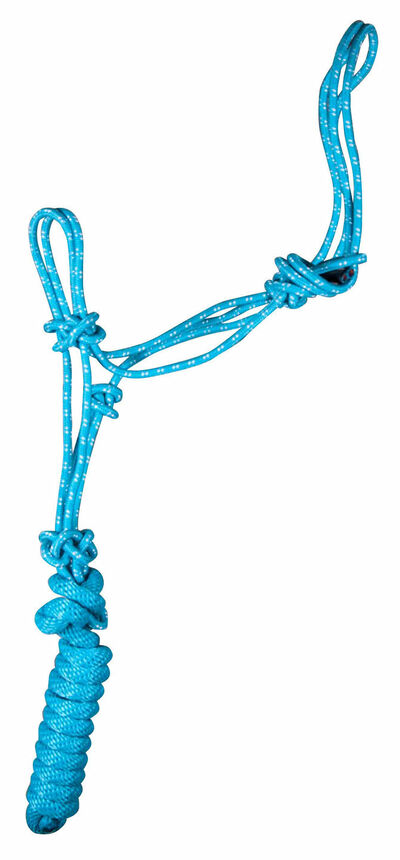 Poly Braided Rope Halter with 8' Detachable Lead  - 18 Colors Available NEW