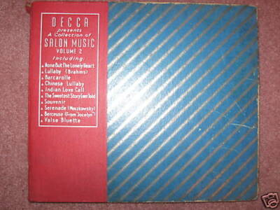 Decca Salon Music Volume 2 - 5 original 78 rpm records