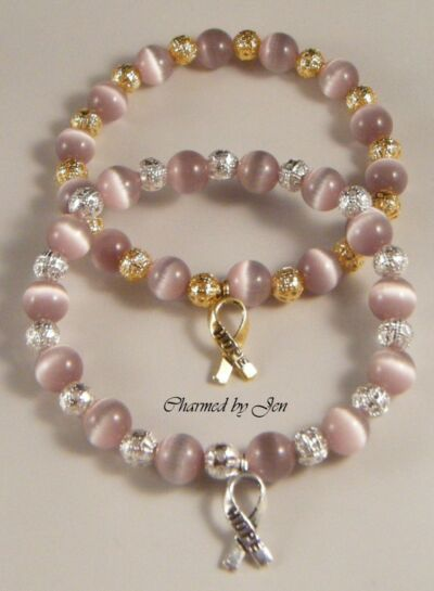 EPILEPSY Awareness Stretch Bracelet w/ HOPE Charm (ES)