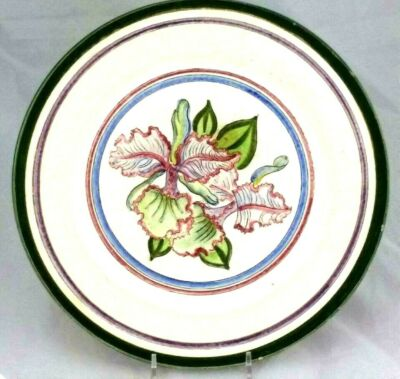 "Stangl Unique & RARE Design Sample Test 10"" Plate ORCHID Prototype One-of-a-Kind"