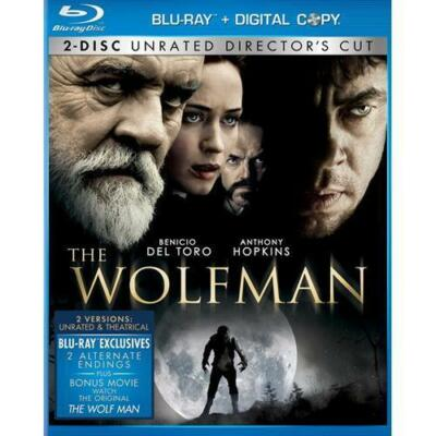 -= The Wolfman Blu-ray - 2-Disc Set, Rated/Unrated - Emily Blunt =-