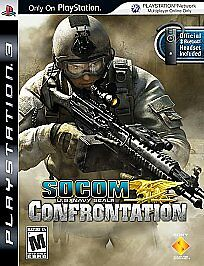 PS3 SOCOM: Confrontation U.S. Navy Seals Playstation 3~Complete Very Good Cond.
