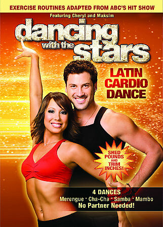 Dancing with the Stars: Latin Cardio Dance, Good DVD, Cheryl Burke, Maksim Chmer