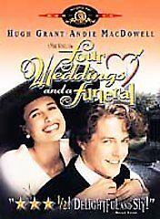 Four Weddings and a Funeral (DVD, 1999) Hugh Grant  Andie MacDowell WATCHED ONCE