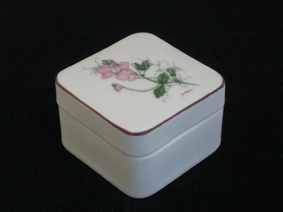 "Toko ""Botanical Art Collection"" Porcelain Trinket Box Designed by Y'Ohta Japan"